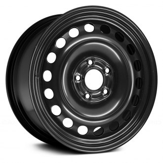 "Replace® - 16"" Replica 18 Vents Black Factory Steel Wheel"