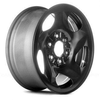 "Replace® - 16"" Replica 5 Vents Black Factory Steel Wheel"