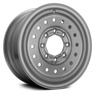 "Replace® - 16"" Remanufactured 16-Round-Holes Silver Factory Steel Wheel"