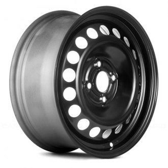"Replace® - 15"" Remanufactured 18 Vents Black Factory Steel Wheel"
