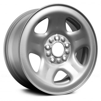 "Replace® - 15"" Remanufactured 5 Spokes Silver Factory Steel Wheel"