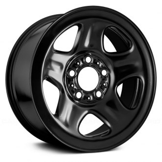 "Replace® - 15"" Replica 5 Spokes Black Factory Steel Wheel"