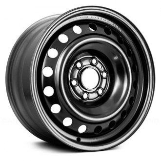 "Replace® - 16"" Remanufactured 18 Round Holes Black Factory Steel Wheel"