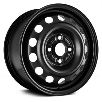 "Replace® - 14"" Remanufactured 14 Oval Vents Black Factory Steel Wheel"
