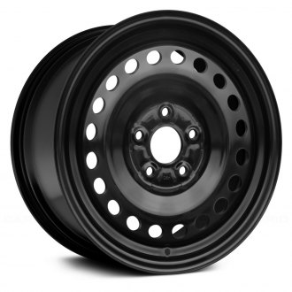 "Replace® - 15"" Replica Round Vents Black Factory Steel Wheel"