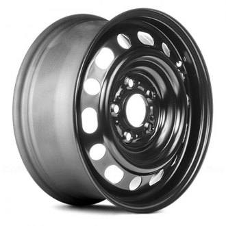 "Replace® - 15"" Replica 14 Holes Round and Oval Black Factory Steel Wheel"