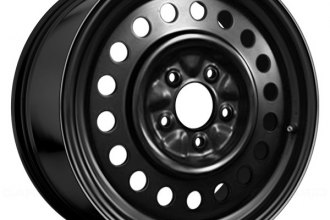 "Replace® - 15"" Remanufactured 18-Holes Black Factory Steel Wheel"