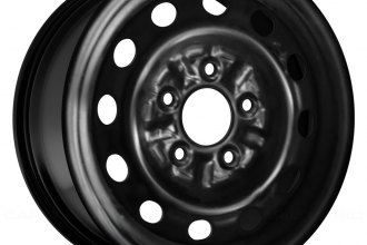 "Replace® - 14"" Remanufactured 12-Holes Black Factory Steel Wheel"