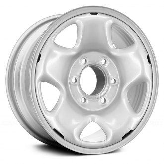 "Replace® - 16"" Remanufactured 5 Spokes Silver Factory Steel Wheel"