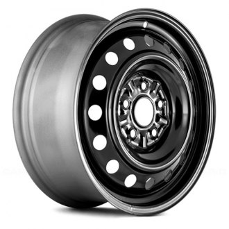 "Replace® - 16"" Remanufactured 16 Vents Black Factory Steel Wheel"