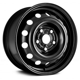 "Replace® - 15"" Remanufactured 14 Holes Black Factory Steel Wheel"