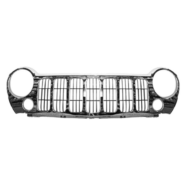 Replace® - Grille (Black, with With Chrome Molding)
