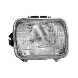 "Replace® - Replacement 7x6"" Rectangular Chrome Headlight"