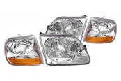Replace® - Driver and Passenger Side, Set of 2 Chrome Headlights