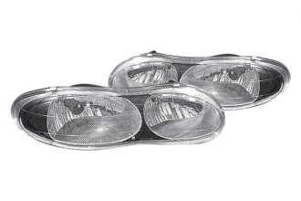 Replace® GM2505132 - Black Headlights