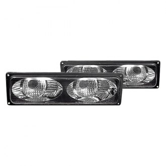 Replace® - Black Twin Eyes Type Parking Lights