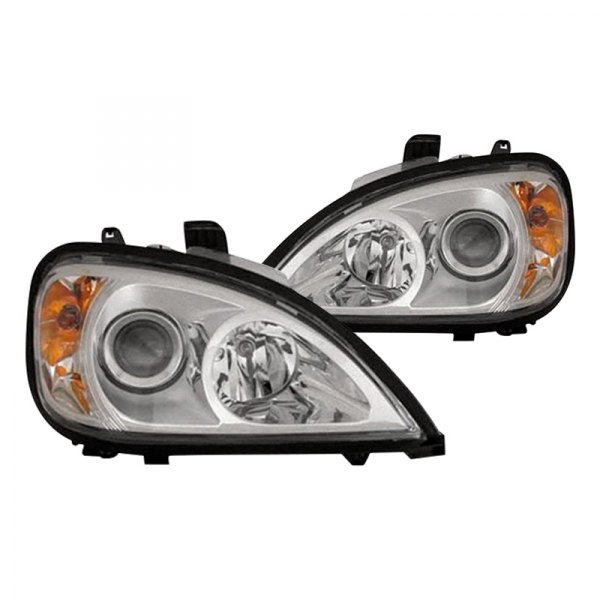 Replace® - Driver and Passenger Side Chrome Projector Headlights