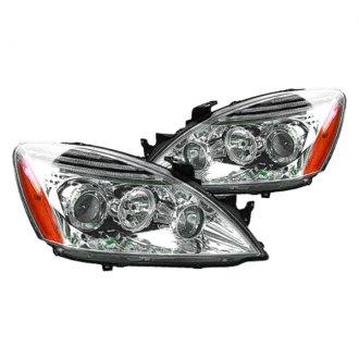 Replace® - Driver and Passenger Side Chrome Headlight