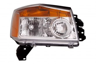 Replace® NI2503168 - Passenger Side Replacement Headlight