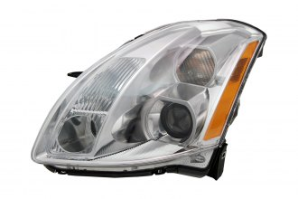 Replace® NI2503183 - Passenger Side Replacement Headlight