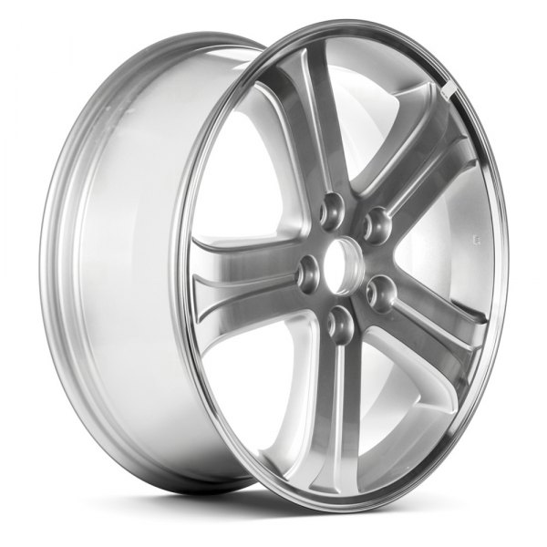 "Replace® - 15.35"" Remanufactured 6 Spokes Machined As Cast Factory Alloy Wheel"
