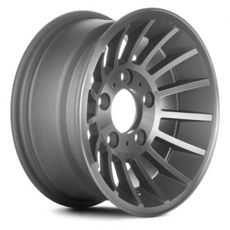 "Replace® - 15"" Remanufactured 15 Ribs Flat Gray Silver Factory Alloy Wheel"