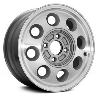 "Replace® - 14"" Remanufactured 8 Hole Bright Silver Acrylic Textured Factory Alloy Wheel"