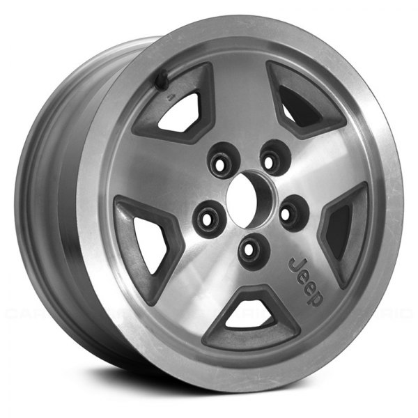 "Replace® - 15"" Remanufactured 5 Spokes Gray Sparkle Silver Factory Alloy Wheel"