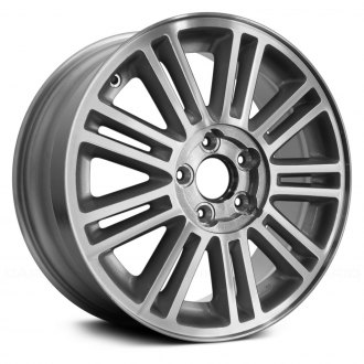 "Replace® - 17"" Remanufactured 9 Double Spokes Machined and Silver Factory Alloy Wheel"