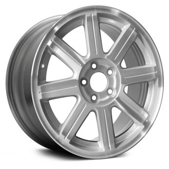 "Replace® - 18"" Remanufactured 8 Grooved Spokes Machined and Silver Factory Alloy Wheel"
