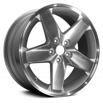 "Replace® - 18"" Remanufactured 5 Spokes Machined and Silver Factory Alloy Wheel"