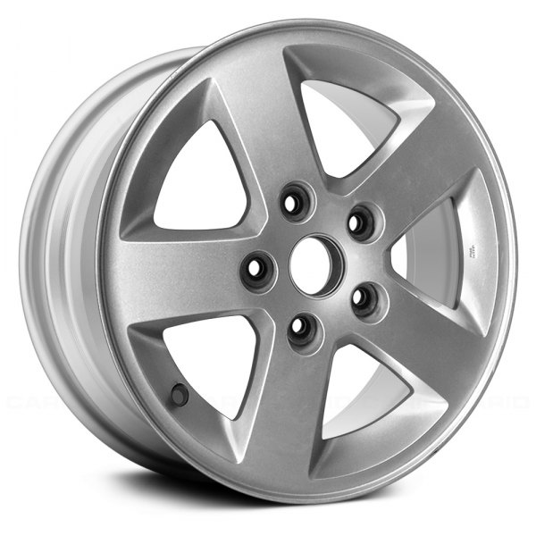 "Replace® - 16"" Remanufactured 5 Spokes Sparkle Silver Metallic Full Face Factory Alloy Wheel"