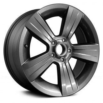 2011 dodge caliber replacement factory wheels rims carid Inside Dodge Caliber SRT-4 replace 17x6 5 5 spoke all painted dark charcoal metallic alloy factory