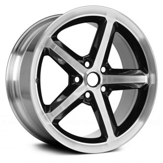"Replace® - 18"" Remanufactured 5 Spokes Polished Face with Black Window Factory Alloy Wheel"