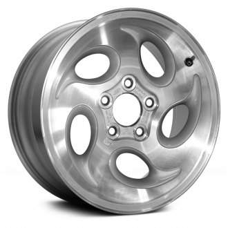 "Replace® - 15"" Remanufactured 5 Oval Vents Light Sparkle Silver Textured Factory Alloy Wheel"