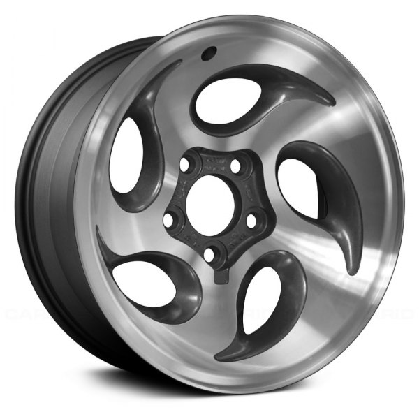 "Replace® - 15"" Remanufactured 5 Oval Vents Charcoal Gray Factory Alloy Wheel"