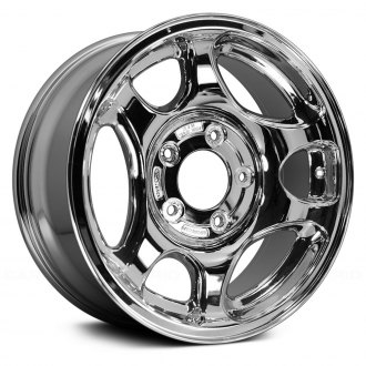"Replace® - 16"" Remanufactured 3 Large 3 Small Hole Chrome Factory Alloy Wheel"
