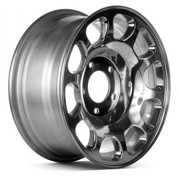 "Replace® - 16"" Remanufactured 10 Oval Vents Bright Polished Factory Alloy Wheel"
