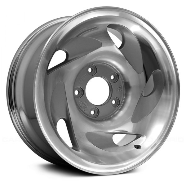 "Replace® - 17"" Remanufactured 5 Swirl Oval Spokes Chrome Factory Alloy Wheel"