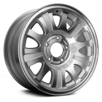 "Replace® - 17"" 10 Holes Sparkle Silver Factory Alloy Wheel"