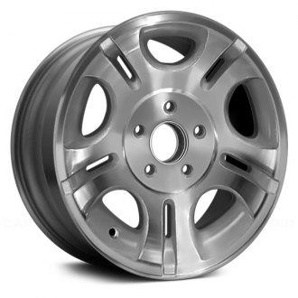 "Replace® - 15"" Remanufactured 5 D Shaped Slots Sparkle Silver Factory Alloy Wheel"