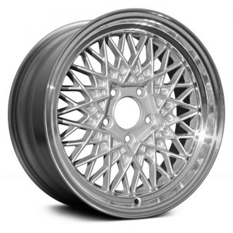 "Replace® - 16"" Remanufactured Mesh Design Silver Face Machined Lip Factory Alloy Wheel"