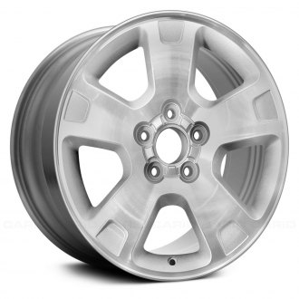 "Replace® - 17"" Remanufactured 5 Spokes Machined with Silver Vents Factory Alloy Wheel"