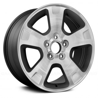 "Replace® - 17"" Remanufactured 5 Spokes Charcoal Gray Factory Alloy Wheel"