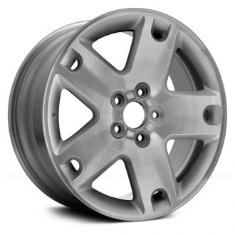 "Replace® - 18"" Remanufactured 5 Spokes Machined with Silver Vents Factory Alloy Wheel"