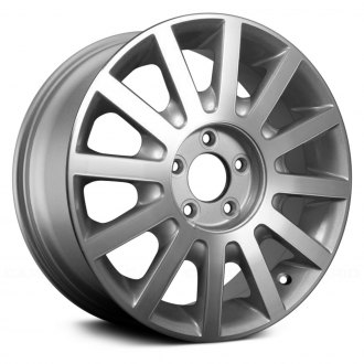 "Replace® - 17"" Remanufactured 12 Spokes Machined and Silver Factory Alloy Wheel"