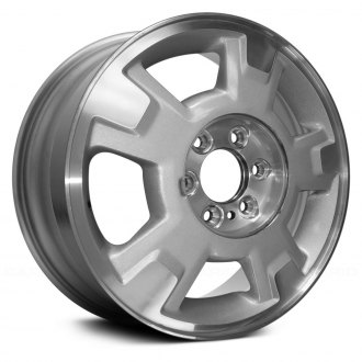 2010 ford f 150 replacement factory wheels rims carid Ford F-350 Ambulance Conversions replace 17x7 5 5 spoke machined and bright silver metallic alloy factory