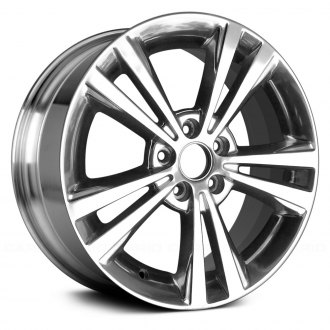 2011 lincoln mkz replacement factory wheels rims carid 2011 Lincoln MKS replace 18x7 5 10 spoke full polished alloy factory wheel remanufactured