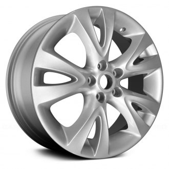 2010 ford taurus replacement factory wheels rims carid Ford Focus replace 18x7 5 5 split spoke silver alloy factory wheel remanufactured