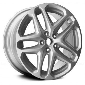 "Replace® - 17"" 5 Double Spokes All Painted Sparkle Silver Metallic Factory Alloy Wheel"